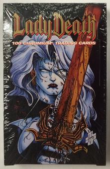 Chaos Lady Death Chromium Trading Cards Box (1994 Krome Productions)