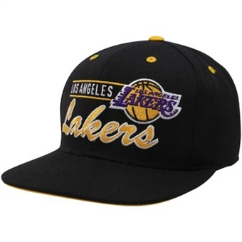 Los Angeles Lakers Adidas Black Grind Snapback Adjustable Hat (Size Adult OSFA)