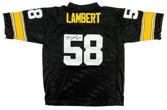 Jack Lambert Autographed Pittsburgh Steelers Throwback Football Jersey (Tristar)