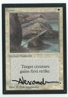 Magic the Gathering Beta Artist Proof Lance - SIGNED BY ROB ALEXANDER