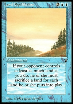 Magic the Gathering Legends Single Land Equilibrium - MODERATE PLAY (MP)