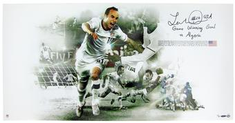 "Landon Donovan Autographed USMNT 36x18 ""World Cup Collage"" #/110 UDA (Upper Deck)"
