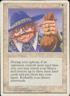 Magic the Gathering 4th Edition Single Land Tax - MODERATE PLAY (MP)