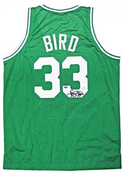 Larry Bird Autographed Boston Celtics Green Basketball Jersey