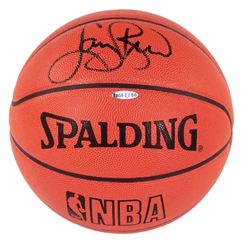Larry Bird Autographed Boston Celtics Spalding Basketball (UDA)