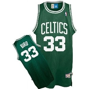 Larry Bird #33 Boston Celtics Adidas Green Soul Swingman Jersey (Size X-Large)