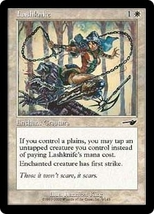 Magic the Gathering Nemesis Single Lashknife Foil