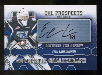 2012/13 In the Game Between The Pipes Autographs #AEL Eetu Laurikainen Autograph