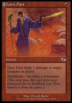 Magic the Gathering Judgment Single Lava Dart Foil