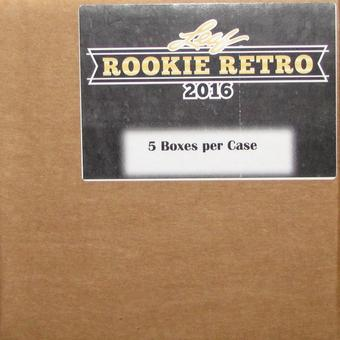 2016 Leaf Rookie Retro Hobby 5-Box Case