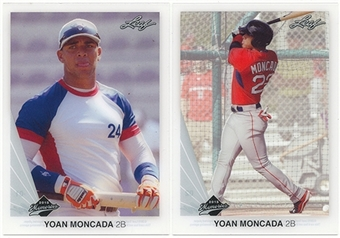 2015 Leaf Yoan Moncada 2-Card Set (1st Cards Ever!)