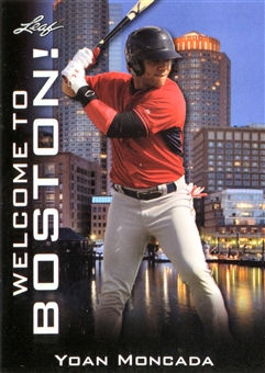 2015 Leaf National Sports Collectors Convention 4 Card Pack (Includes Yoan Moncada)