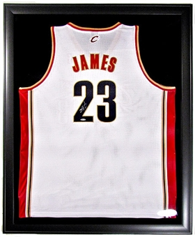 LeBron James Autographed and Framed Cavaliers Authentic Home Jersey UDA COA