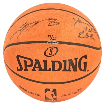 "LeBron James Autographed Miami Heat Spalding Basketball w/""Youngest to 20k"" Inscr. (UDA)"