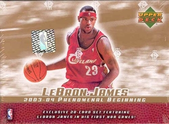 2003/04 Upper Deck LeBron James PHENOMenal Beginning Basketball Set (box)
