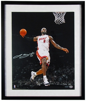LeBron James Autographed & Framed Miami Heat 16x20 Photo (UDA COA)
