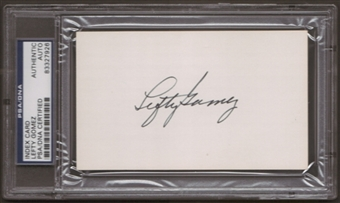 Lefty Gomez Autograph (Index Card) PSA/DNA Certified *7926