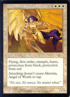 Magic the Gathering Legions Single Akroma, Angel of Wrath UNPLAYED (NM/MT)