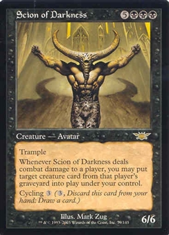 Magic the Gathering Legions Single Scion of Darkness UNPLAYED (NM/MT)