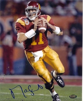 "Matt Leinart Autographed USC 8x10 Football Photo ""Pocket"""