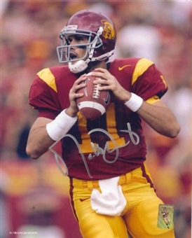 "Matt Leinart Autographed USC 8x10 Football Photo ""Looking"""