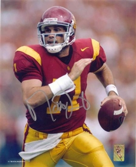 "Matt Leinart Autographed USC 8x10 Football Photo ""Running"""