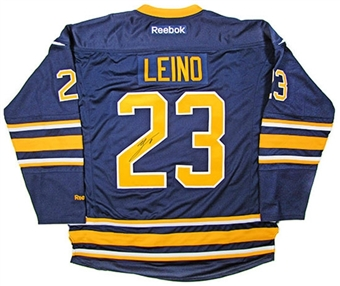 Ville Leino Autographed Buffalo Sabres Blue Hockey Jersey (Home)