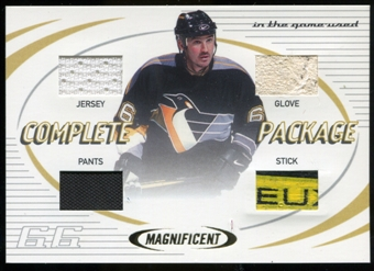 2002/03 ITG Used Magnificent Inserts #MI10 Complete Package Mario Lemieux SP /10