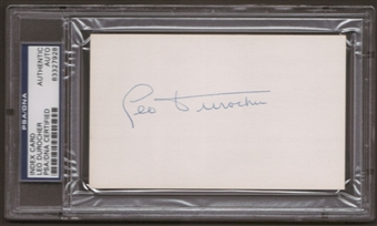 Leo Durocher Autograph (Index Card) PSA/DNA Certified *7928