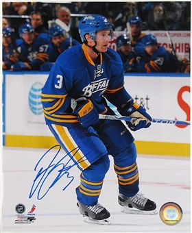 Jordan Leopold Autographed Buffalo Sabres 8x10 Hockey Photo