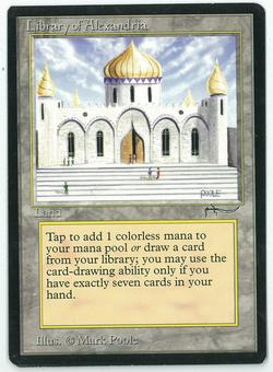 Magic the Gathering Arabian Nights Single Library of Alexandria - SLIGHT PLAY (SP) FACTORY MISCUT