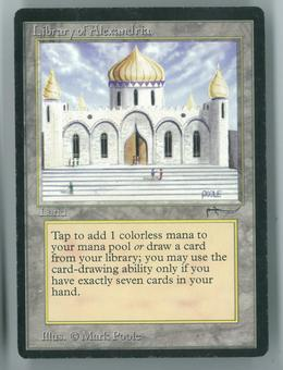 Magic the Gathering Arabian Nights Single Library of Alexandria - MODERATE/HEAVY PLAY (MP/HP)