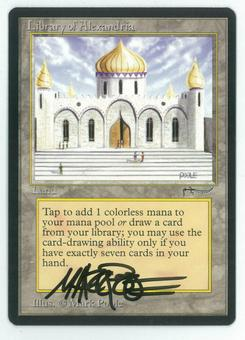 Magic the Gathering Arabian Nights Single Library of Alexandria - NEAR MINT (NM) Artist Signed