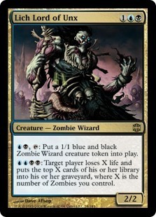 Magic the Gathering Alara Reborn Single Lich Lord of Unx Foil