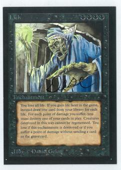 Magic the Gathering Alpha Single Lich - HEAVY PLAY (HP)