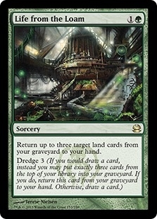 Magic the Gathering Modern Masters Single Life from the Loam Foil
