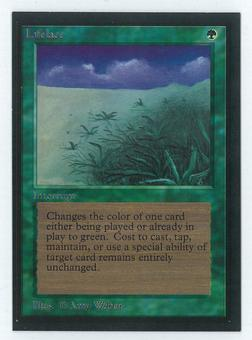 Magic the Gathering Beta Artist Proof Lifelace - SIGNED BY AMY WEBER