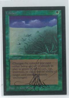 Magic the Gathering Beta Artist Proof Lifelace - SIGNED AND ALTERED BY AMY WEBER