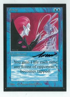 Magic the Gathering Beta Artist Proof Lifetap - SIGNED BY ANSON MADDOCKS