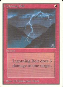Magic the Gathering Unlimited Single Lightning Bolt - SLIGHT PLAY (SP)