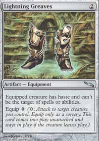 Magic the Gathering Mirrodin Single Lightning Greaves UNPLAYED (NM/MT)