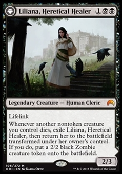 Magic the Gathering Magic Origins Single Liliana, Heretical Healer NEAR MINT (NM)