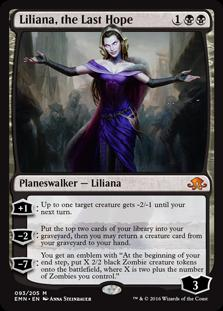 Magic the Gathering Eldritch Moon Single Liliana, the Last Hope - NEAR MINT (NM)