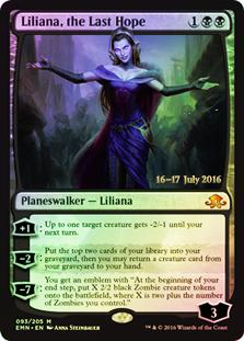 Magic the Gathering Eldritch Moon Single Liliana, the Last Hope Prerelease FOIL - NEAR MINT (NM)