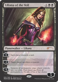 Magic the Gathering RPTQ Promotional Single FOIL Liliana of the Veil - NEAR MINT (NM)