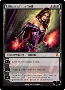 Magic the Gathering Innistrad Single Liliana of the Veil - SLIGHT PLAY (SP)