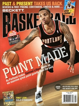 2013 Beckett Basketball Monthly Price Guide (#246 March) (Lillard)