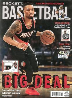 2017 Beckett Basketball Monthly Price Guide (#298 July) (Damien Lillard)
