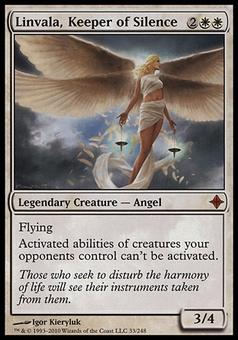 Magic the Gathering Rise of the Eldrazi Single Linvala, Keeper of Silence FOIL - MODERATE PLAY (MP)