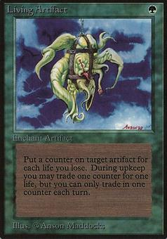 Magic the Gathering Beta Single Living Artifact - SLIGHT PLAY (SP)